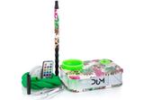 Waterpijp DUM Travel party groen/roze_
