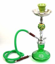 Waterpijp Basra 1 slang groen (35cm)