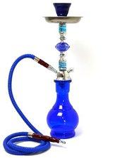 Waterpijp Arab blauw 1 slang (45cm)