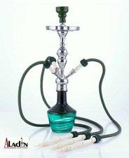 Waterpijp Aladin Timbuktu black green (66cm)
