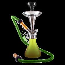 Aladin waterpijp ROY7 bruin/groen (43 cm)