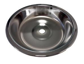 Waterpijp as opvang schaaltje zilver (18 cm)