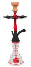 MOB waterpijp Cloud King (Mini) black/red