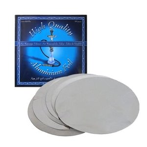 Waterpijp aluminium folie 100 stuks zonder gaatjes (dun)