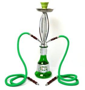 Waterpijp Istanbul groen 2 slangen (54cm)