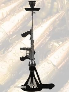 Waterpijp geweer MOB Tommy Gun zwart/chrome