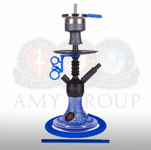 Waterpijp Amy Deluxe Antique Berry zwart/blauw (43 cm)