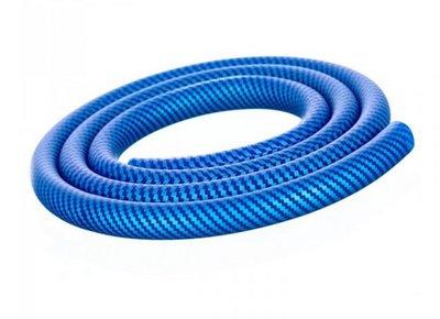 Aladin waterpijpslang siliconen carbon blauw
