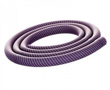 Aladin waterpijpslang siliconen carbon paars