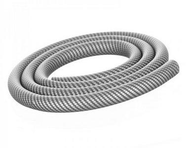 Aladin waterpijpslang siliconen carbon zilver